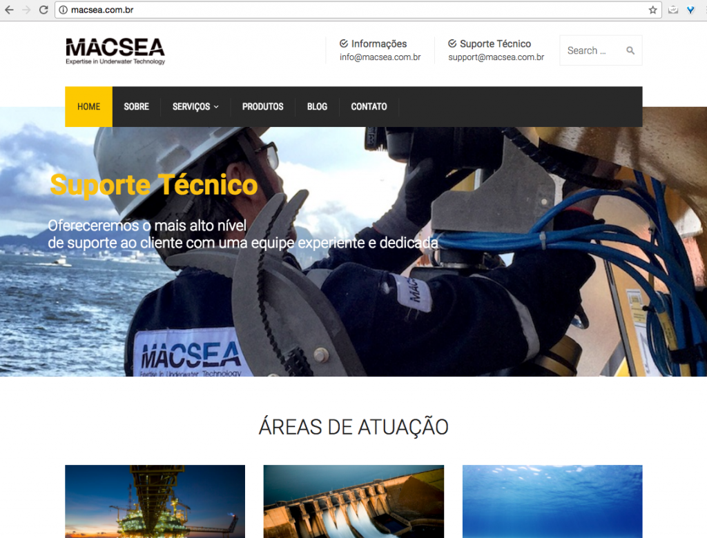 Novo site em wordpress para empresa de tecnologia: MACSEA - ecommerce por Loft44 - Flow Commerce