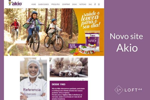 Novo website em WordPress - novo site akio