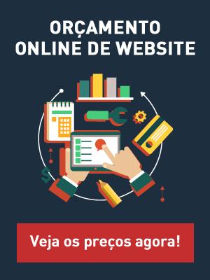 Orçamento online de Website